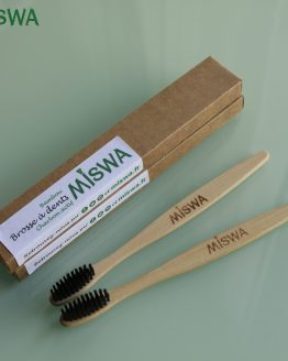lot 2 brosse à dents bambou miswa