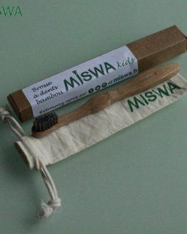 Brosse à dents KIDS son sac en coton bio Miswa