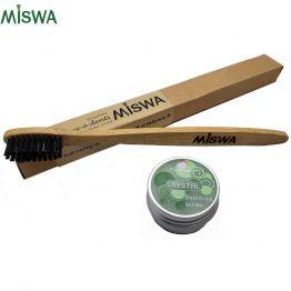 Brosse à dents bambou Miswa et dentifrice Crystal