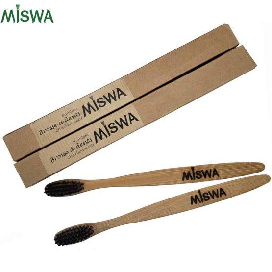 Lot de 2 brosses en bambou Miswa